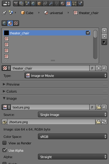 The texture properties window. Here's where you set what image to use for the texture