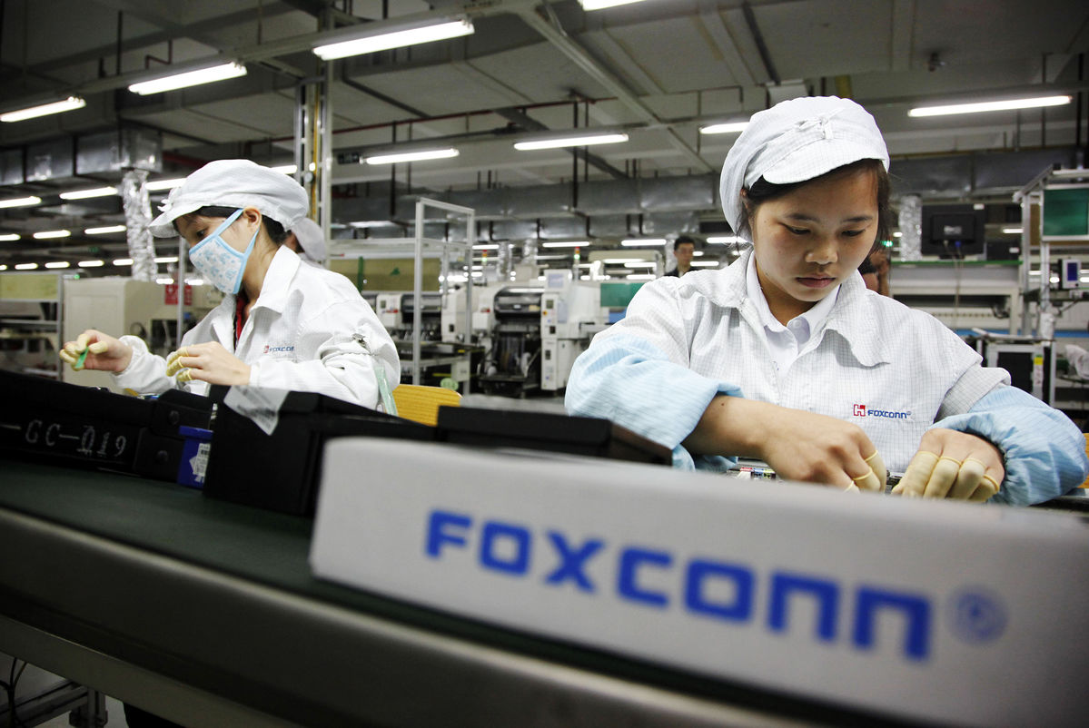 Foxconn production (Bloomberg)