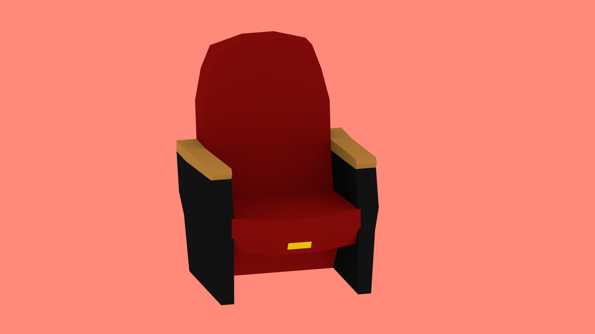 Render of the theater chair
